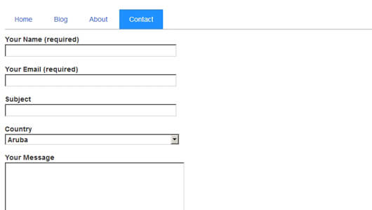 Front end Contact form with List plugin implemented - image