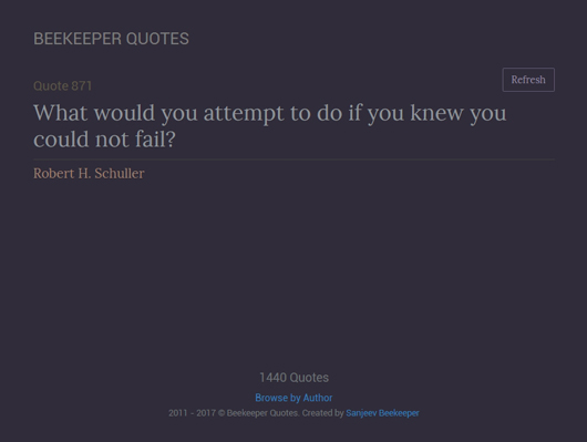 Screenshot of a New Beekeepers quotes website - image