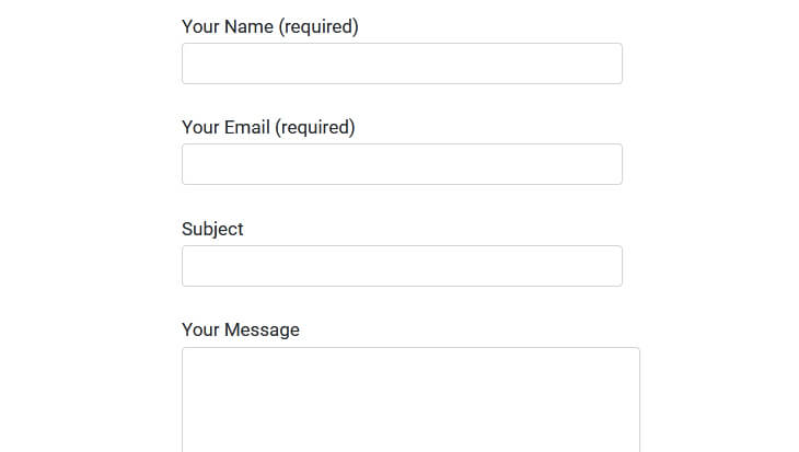 Screenshot of the Contact Form 7 with Bootstrap Class applied - beekeepersblog.com