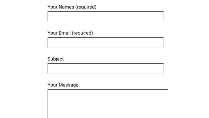 Screenshot of Contact Form 7 without Bootstrap Classes - beekeepersblog.com