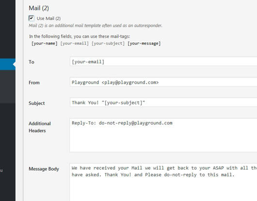 Contact-form-7 response mail fields - image