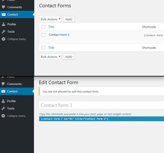 Contact-form-7 plugin page - image