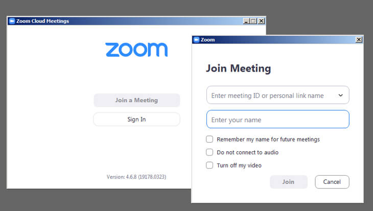 Screenshot of Zoom Desktop Client Credential window - beekeepersblog.com